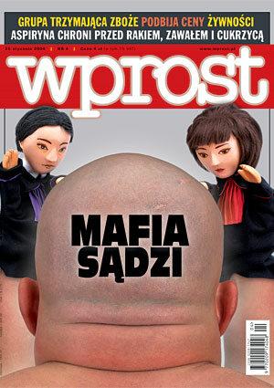 Okładka tygodnika Wprost nr 4/2004 (1104)