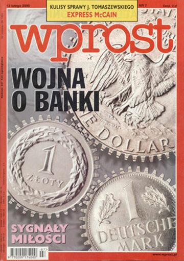 Okładka tygodnika Wprost nr 7/2000 (898)