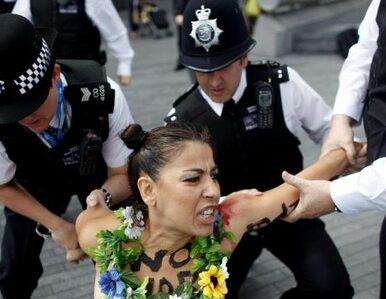 """""""Nie dla szariatu"""". Protest Femenu w Londynie"""