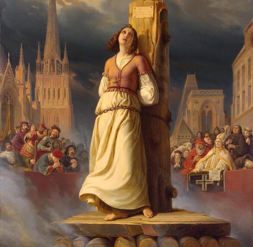 Śmierć Joanny d'Arc na stosie (Hermann Stilke, 1843)