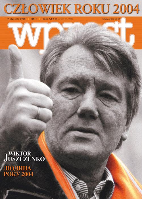 Okładka tygodnika Wprost nr 1/2005 (1153)