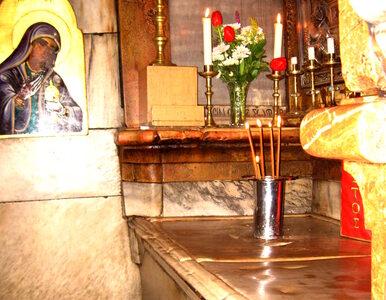 Kamień, na którym spoczywało ciało Chrystusa, odsłonięty po raz pierwszy...