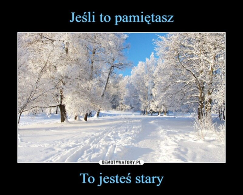 Mem związany z zimą