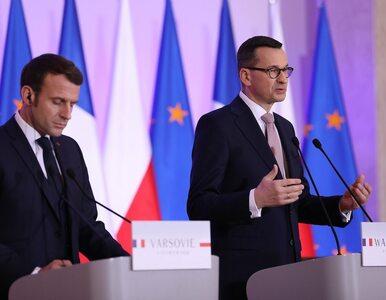 """Morawiecki spotkał się z Macronem. """"Chcemy budować silną Europę"""""""