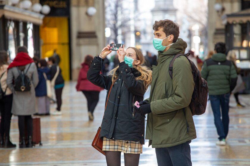 Turyści w Mediolanie