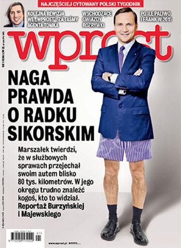 Okładka tygodnika Wprost nr 1/2015 (1660)