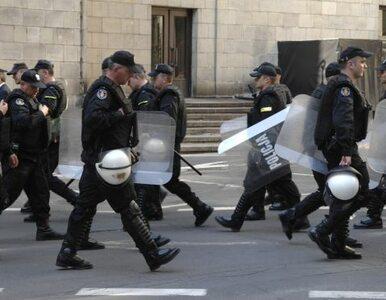 Demonstracja przeciwko likwidacji kopalń. Starcie z policją