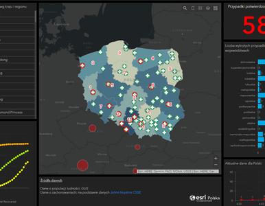 Powstała krajowa mapa koronawirusa. Tak w Polsce rozprzestrzenia się...