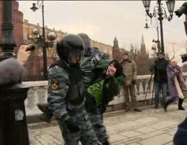 """""""Wojnie NIE!"""". Protest w Moskwie rozpędzony przez OMON"""