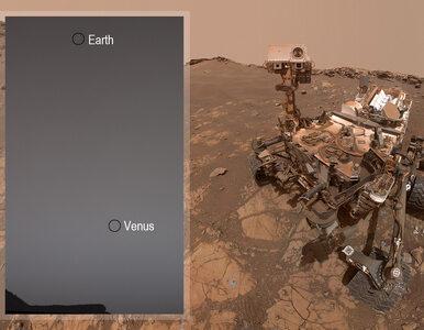 Jak wygląda Ziemia widziana z powierzchni Marsa? Łazik Curiosity...