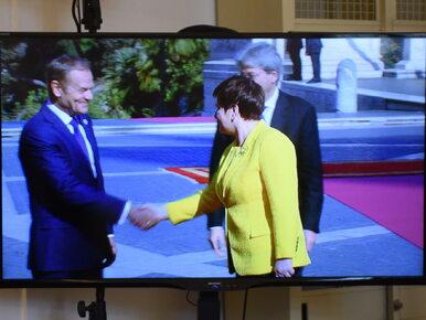 """Szydło i Tusk pozowali do zdjęć. """"Musimy się uśmiechać"""""""