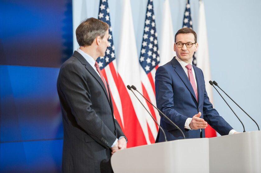 Ambasador Paul W. Jones i premier Mateusz Morawiecki