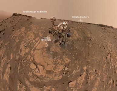 Łazik Curiosity zaliczył rekordową wspinaczkę. Później zrobił sobie selfie