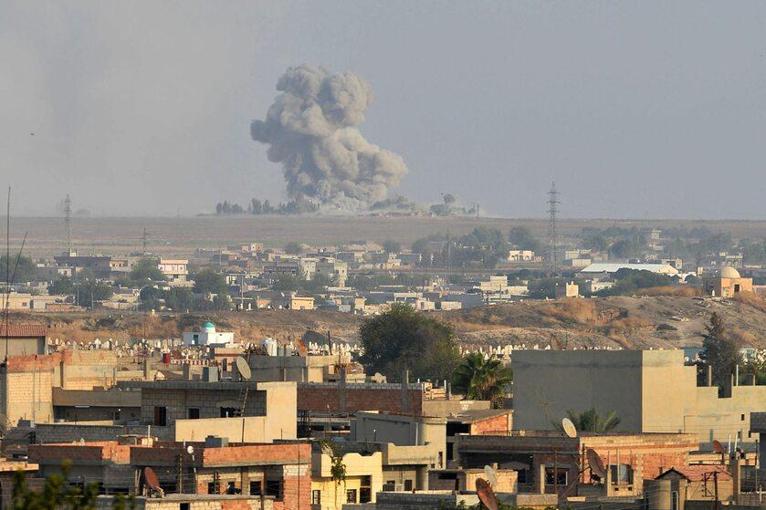 Syryjskie miasto Tall Abjad w trakcie ofensywy tureckiej