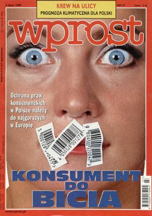 Okładka tygodnika Wprost nr 27/1999 (866)
