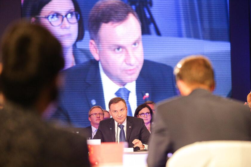 Andrzej Duda na konferencji w Dubrowniku