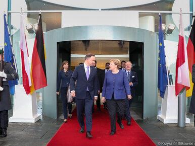 Spotkanie prezydenta Dudy z kanclerz Merkel. Ujawniono tematy rozmów