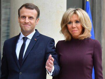 Brigitte i Emmanuel Macron. Para prezydencka z niemal 25-letnią różnicą...