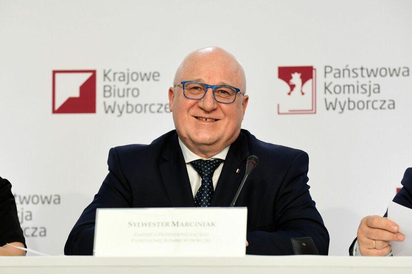 Szef PKW Sylwester Marciniak