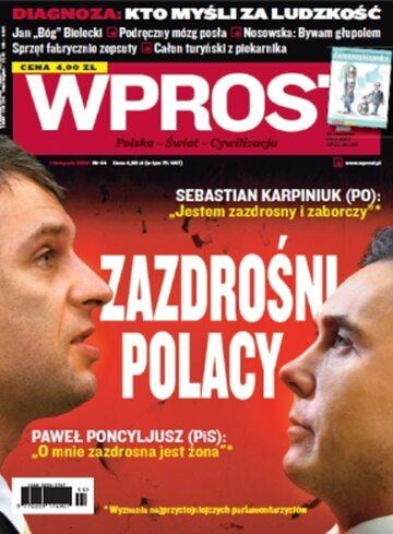 Okładka tygodnika WPROST: 44/2009