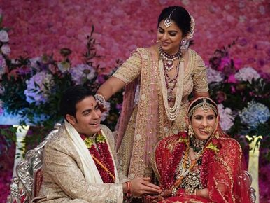 Wśród gości m.in. Priyanka Chopra, grał Coldplay. Tak wyglądał ślub...