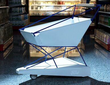 Wózek sklepowy z systemem autonomicznego hamowania. Z auta do supermarketu!