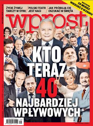 Okładka tygodnika Wprost nr 49/2015 (1714)
