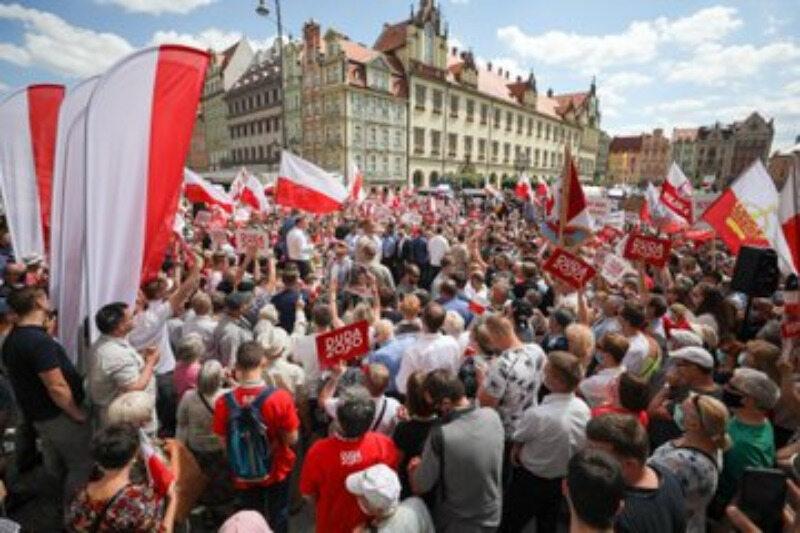 Wiec Andrzeja Dudy we Wrocławiu
