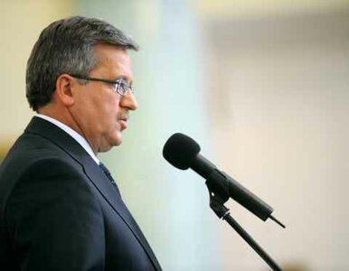 Komorowski: będę odznaczał członków pierwszych demokratycznych rządów