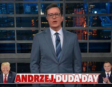 """Stephen Colbert z TLS ogłosił """"Andrzej Duda Day"""". Nazwisko skojarzyło mu..."""
