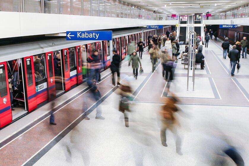 Warszawa, Metro, zdjęcie ilustracyjne