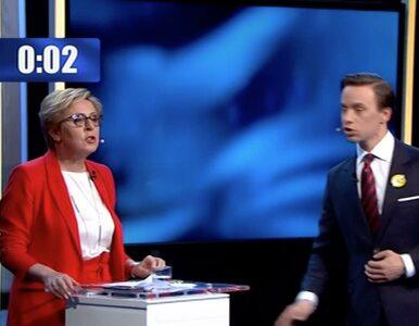 Debata przed wyborami do PE. Bosak chciał wręczyć przypinkę europosłance...