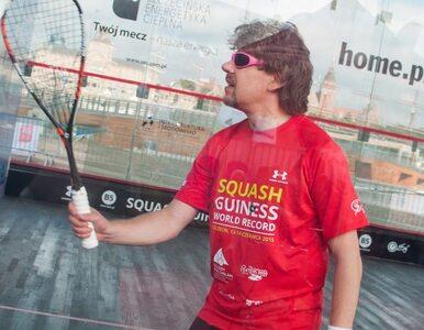 Bloger Wprost.pl pobił rekord Guinessa w grze w squasha