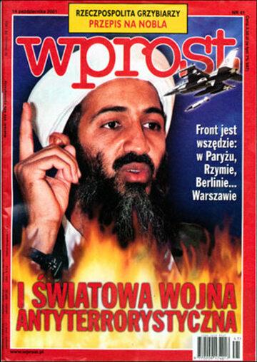 Okładka tygodnika Wprost nr 41/2001 (985)