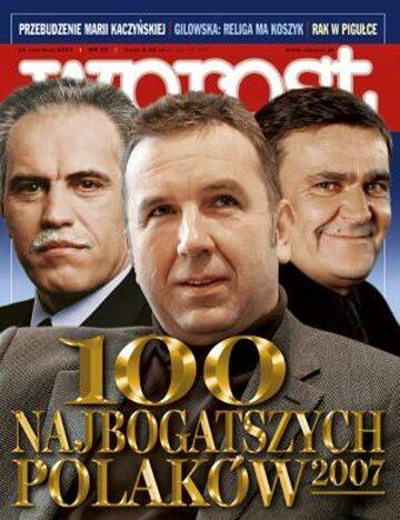 Okładka tygodnika Wprost nr 25/2007 (1278)
